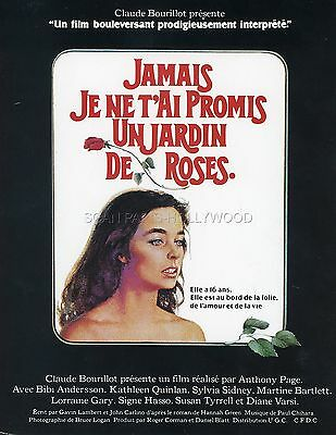 Kathleen Quinlan  I Never Promised You A Rose Garden 1977 Rare Synopsis