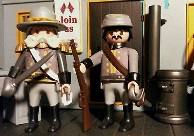 Playmobil ACW Confederation Recruitment Office mit Figuren Western custom