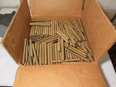 M299 Vtg Lot of 250+  Brass Lamp Threaded Rod Lamp Parts All the same size