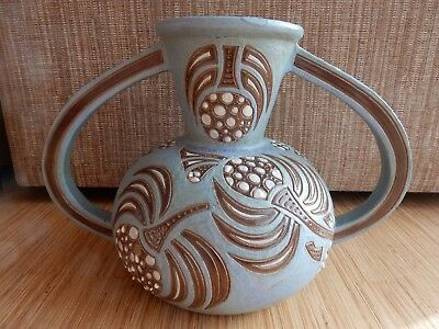 ROGER FRANCOIS (FRENCH EARLY 20TH CENURY) A VASE. exhibition size ! ART POTTERY