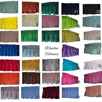 "Solid valance curtains 58"" wide Kids, classroom, Room Decor, Kitchen, Playroom,"