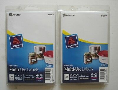 Avery 5430 Multi-Use Labels, 2 Packs, 1008 Labels, .75 x 1.5""