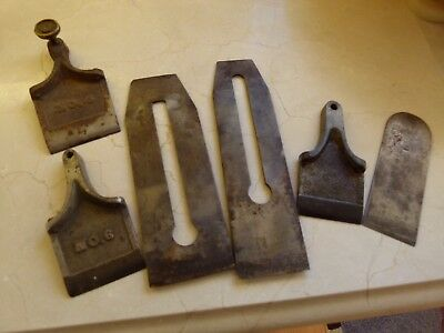 Antique Siegley Plane Assortment Of Parts   Some Very Early