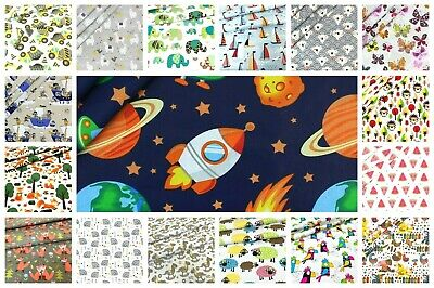 Children's  fabrics.100% Cotton, Unicorns, fairy, Giraffes, Fox Cats , princess