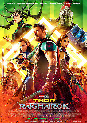 Thor Poster Ragnarok 2017 Movie Hemsworth New Marvel, FREE P+P, CHOOSE YOUR SIZE