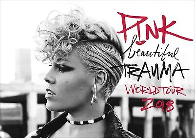 PINK Poster New 2017 Beautiful Trauma New Tour Music, FREE P+P, CHOOSE YOUR SIZE
