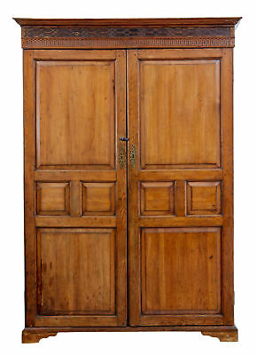 19Th Century English William Iv Pine House Keepers Cupboard