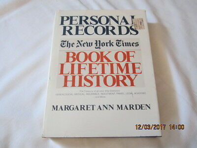 Personal Records : The New York Times Book of Lifetime Records by Margaret A. Ma