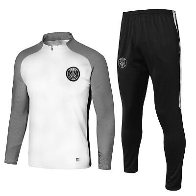 New Adult 2018 White Paris PSG Football Soccer Outfits Tracksuit Training Suits