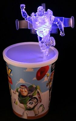DISNEY Parks BUZZ Light Up Clip TOY STORY 3 Sipper CUP Exclusive GLOW CUBE Woody