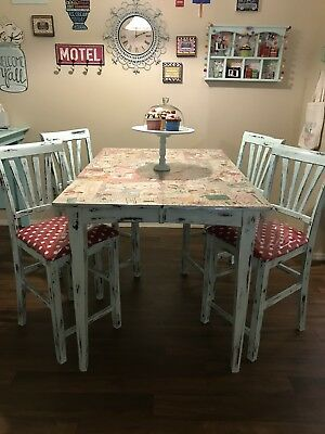 Customized Kitchen Table With 50's Flare