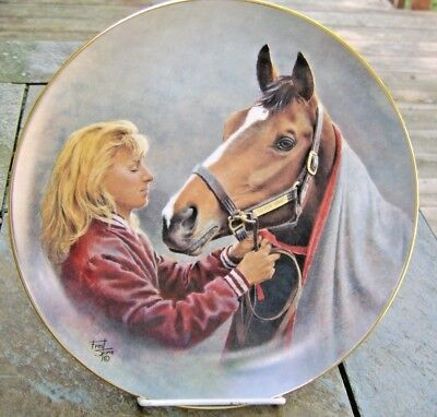 """fred stone 10"""" plate """"A candle in the wind"""" Go for Wand 1987-1990 horse plate"""