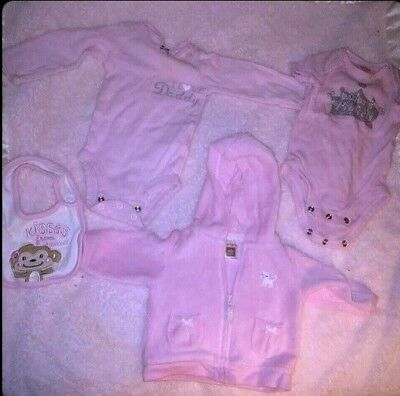 Carter's Girls Pink Baby Bundle New Born