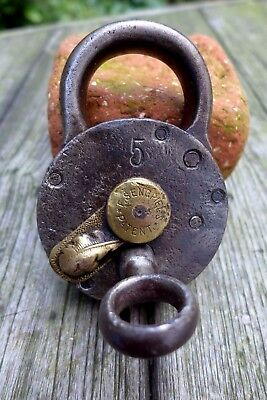 Antique Padlock with one key F.Sengpiel working order Made in Germany No.5 03-03