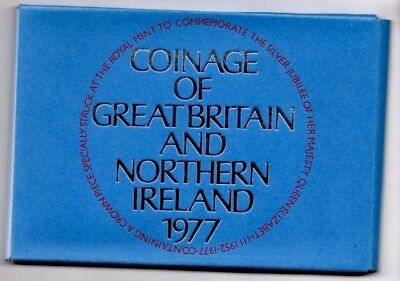 1977 Coinage of Great Britain & Northern Ireland 7 Coin Proof Set UK #1