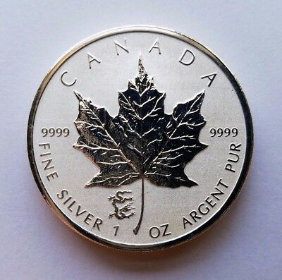 2012 Canada Canadian 1 oz Silver Maple Leaf Reverse Proof Dragon Privy