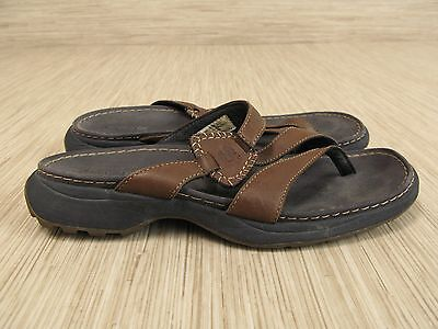 d0f257635b9 Timberland Smart Comfort Brown Leather Sandals Women s Size Size 9 M Thong  Style
