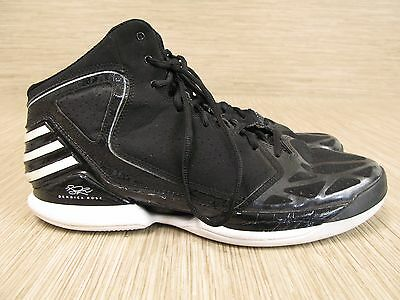 Adidas Derrick Rose Black Leather Basketball Shoes Men's Size US 12 High Tops
