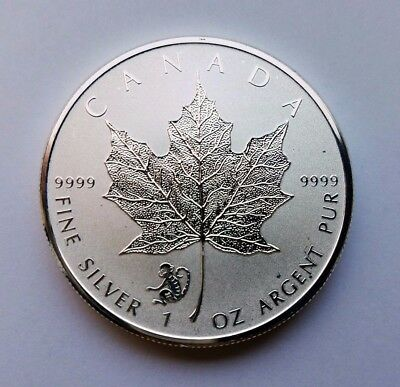 2016 Canada Canadian 1 oz Silver Maple Leaf Reverse Proof Monkey Privy