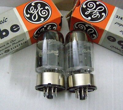 GE 6550A Matched pair tubes Röhren tested  extra strong 100%