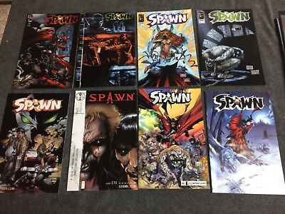 Spawn comic book lot of 17 between 50 - up nice grade