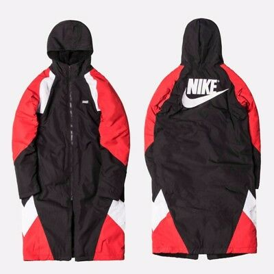 a4d7559e2903 KITH X NIKE SHERPA SIDELINE COAT Red Black Size M -  210.00