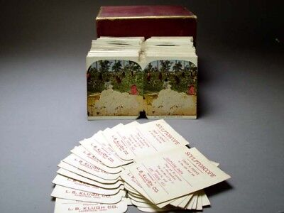 Antique Whitings Stereograph 3-D Stereoviews Lot Of 200 Cards For Sculptoscope