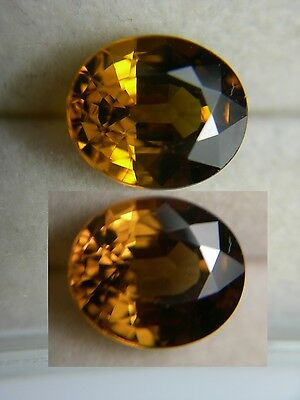 rare Color Shift Malaya Garnet gem Tanzania Malaia Natural Yellow Orange 2.25ct