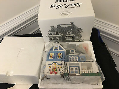 Department 56 Snow Village Mint In Box Shingle Victorian Big Size