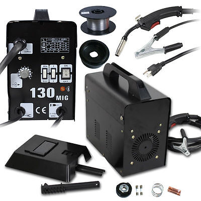 MIG 130 Welder Core Wire Automatic Feed Welding Machine w/ Face Mask Protective