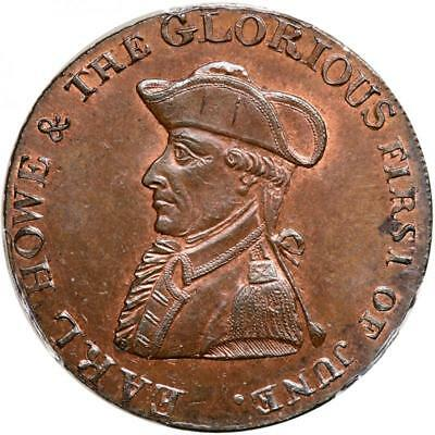 1794 UK Great Britain Conder 1/2 Penny Token Hampshire Earl Howe DH15 MS-65 PCGS