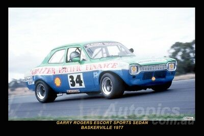 77096 - Garry Rogers Ford Escort - Baskerville 1977  8x12 inch Photo Only $6
