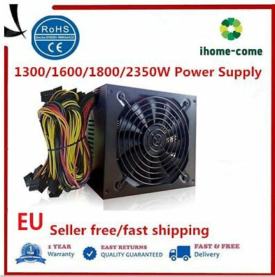 1800W Power Supply For 6GPU Eth Rig Ethereum Coin Mining Miner Dedicated L DW