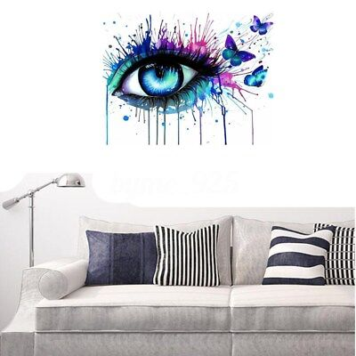 AU 40*50cm Multi-colored Eye Paint By Numbers Kit Canvas Art Painting Home Decor