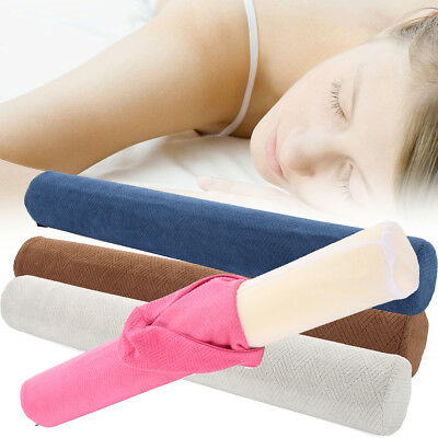23'' Round Cervical Pillow Roll Memory Foam Neck Lumbar Bolster + Washable Cover