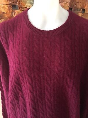 New With Tags 100% Cashmere Sweater Jumper Lush And Plush Hi End 3XL Club Room