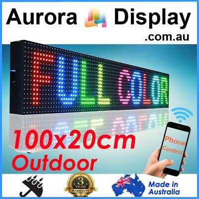 100x20cm Full Color Phone/Wifi Control Scrolling Programmable LED Sign Outdoor
