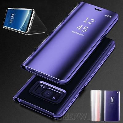 For Samsung Galaxy Note8 S8 Plus Clear View Mirror Leather Flip Stand Case Cover