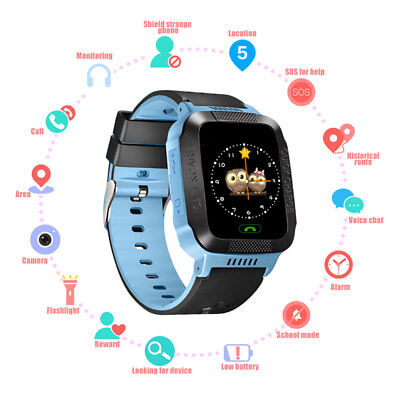 Anti-lost Children Kid Smart Watch LBS Track SOS Call Android IOS Xmas Gifts