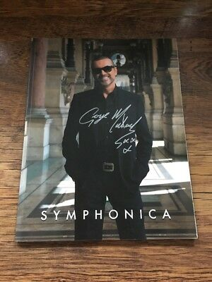 ❤️RARE❤️HAND SIGNED OFFICIAL PROGRAMME❣️Symphonica❣️George Michael (WHAM!)