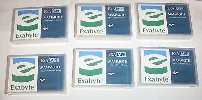 6 x Exabyte Mammoth 8mm data cartridge tapes 125m AME  14GB native - Recognition