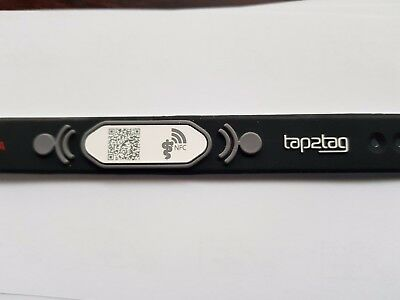 Tap2tag Wristbrand with NFC and QR code
