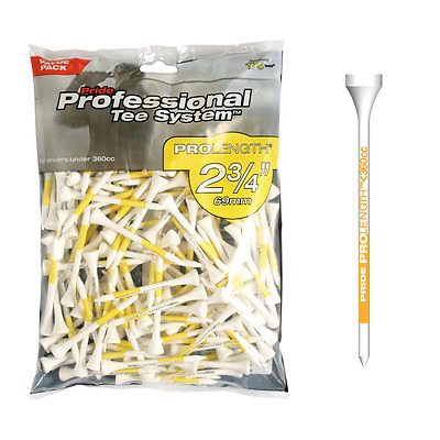 "Pride PTS Professional Tee System 2 3/4""  - 69 mm - 100 Stück Golftees"