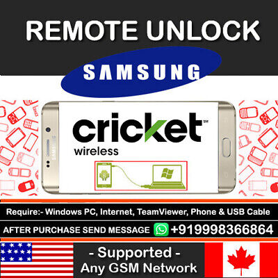 Cricket USA Samsung Galaxy Grand Prime SM-G530AZ Remote Unlock Code Service