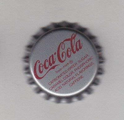1 PIECE COCA COLA BOTTLE METAL CAP SILVER USED NEVER CRIMPED. (Pepsi) 7UP Crafts