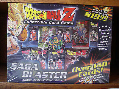 Dragon Ball Z CCG Saga Blaster Intro Set Factory Sealed Set with Promo Card. NEW