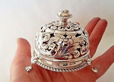 Rare Antique 1908 Sterling / Solid Silver Table Hotel Bell