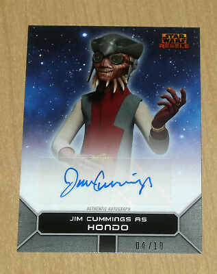 2017 Topps Star Wars Rebels On Demand SILVER autograph Jim Cummings HONDO 4/10