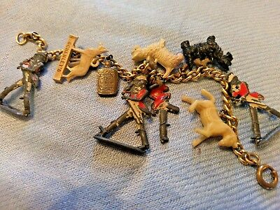 Whisky Charm / Tag + Collection Johnnie Walker Schenley's Old Quaker Dog Horse