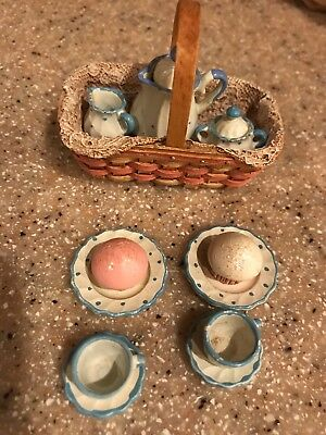 Longaberger Resin Debby Rubis Miniature Basket Autographed Signed Tea time